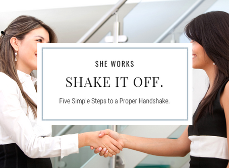Shake it off. The art of the handshake.
