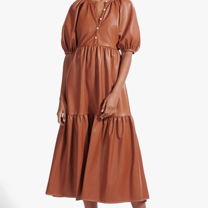Staud Demi Dress in Whiskey