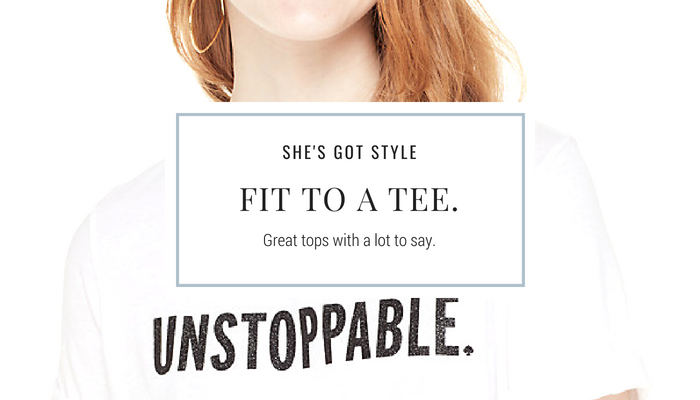 Fit to a tee. Great tops with a lot to say.