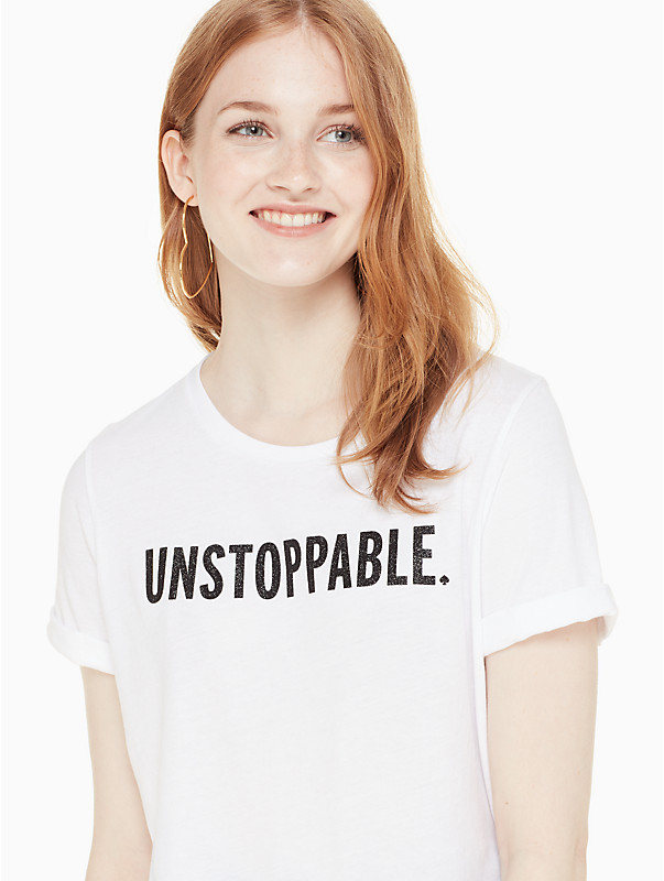 Unstoppable tee by Kate Spade
