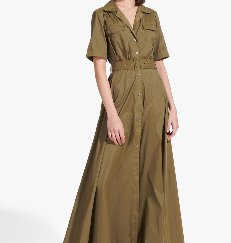 Staud Millie Dress in Caper