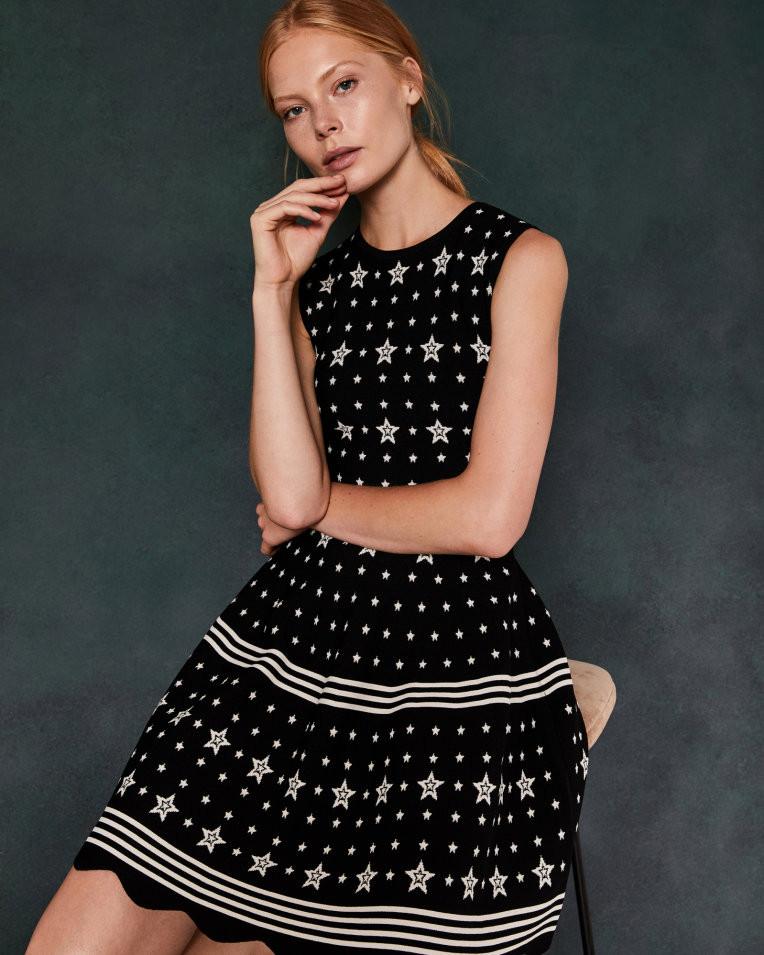 Ted Baker Star Jacquard Dress