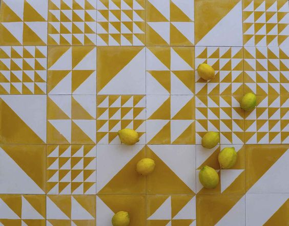 lemon yellow tiles