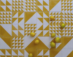 lemon yellow tiles