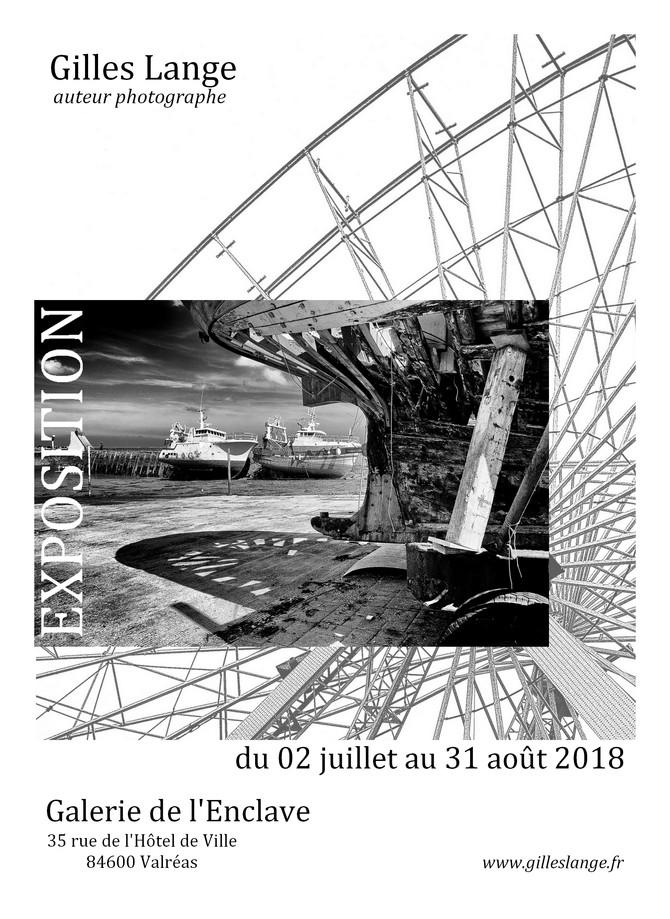 Gilles Lange expose à la galerie de l'Enclave à Valréas dans le Vaucluse du 02 juillet au 31 aoû