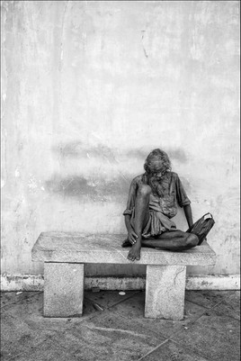 Homeless, Pondichery, Inde, 2013 + bordu