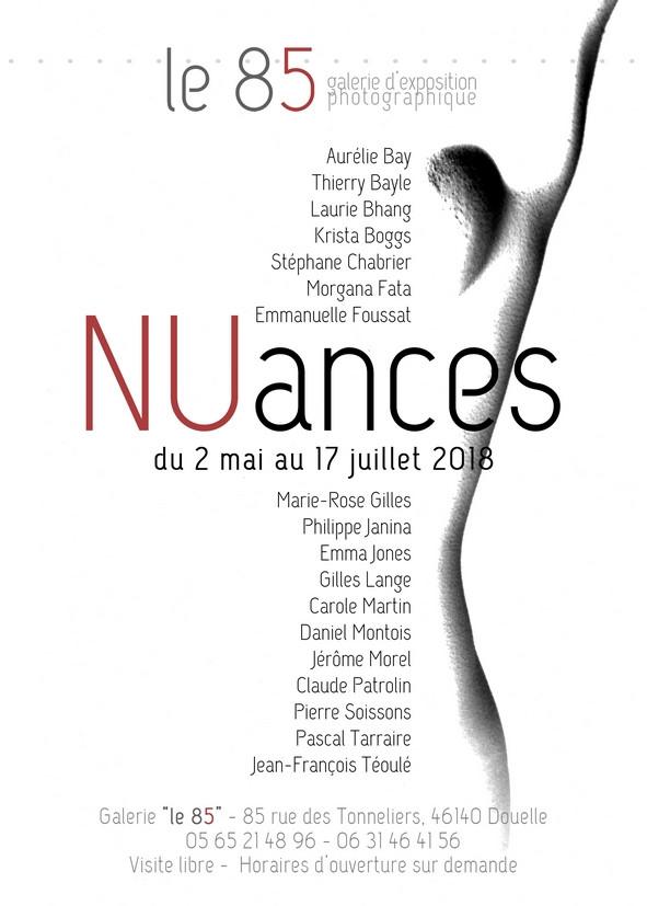 """Exposition NUances à la galerie """"Le 85"""" à Douelles (près de Cahors)"""