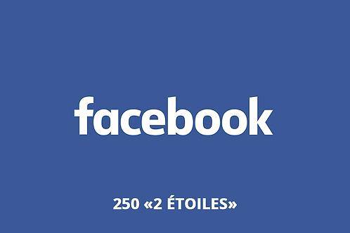 """250 """"2 étoiles"""" Facebook"""