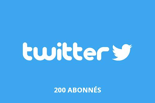 200 abonnés twitter