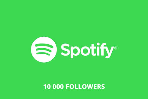 10 000 followers spotify