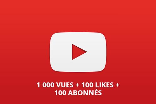 1000 vues - 100 likes - 100 abonnés