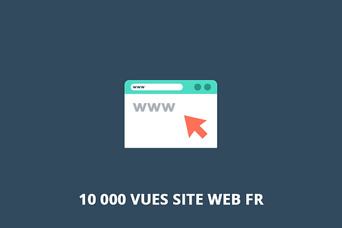 10 000 vues FR Trafic web