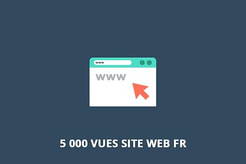 5 000 vues FR Trafic web