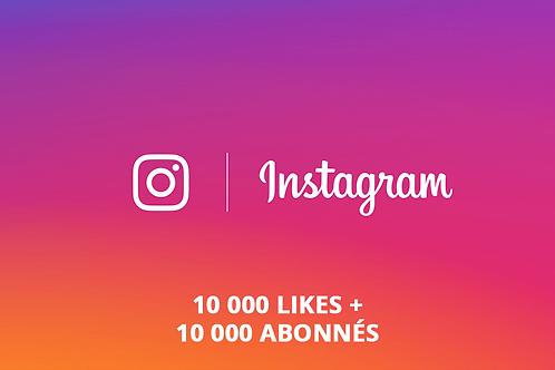 Pack Instagram L (10 000 likes + 10 000 abonnés)