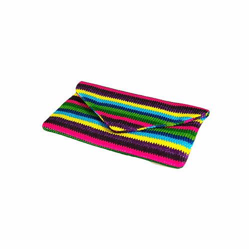 Multi-color Straw Clutch