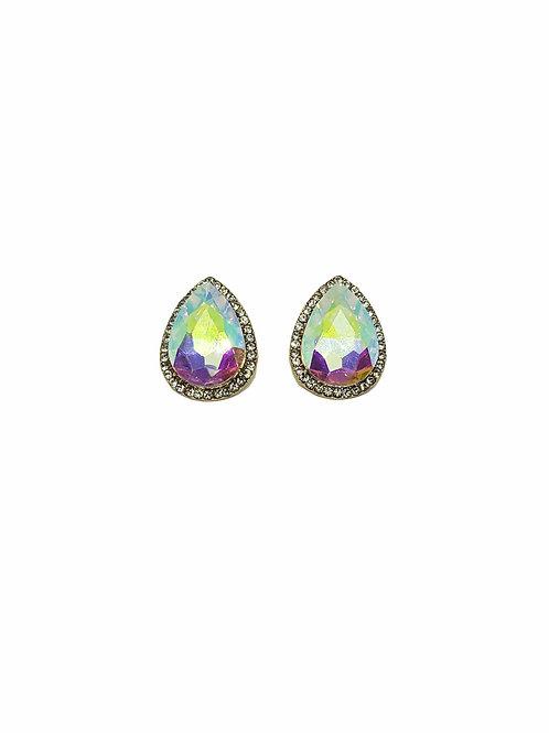 Rhinestone Teardrop Crystal Earrings