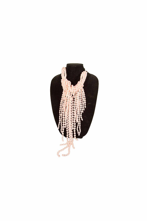 Pink Pearl Bib Necklace