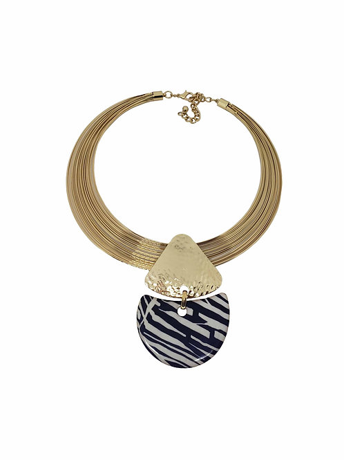 Animal Print Wire Necklace