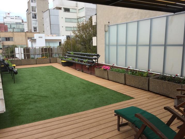 Terraza verde