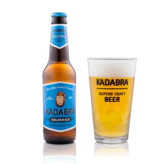 Kadabra Golden Ale con vaso