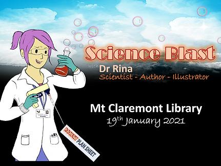 Dr Rina ScienceBlast MtClaremontLibrary
