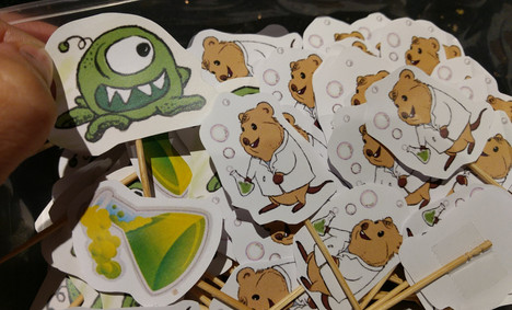 My Mad Scientist Mumy BookLaunch-Cake Toppers (Mutants & Seto the quokka).jpg