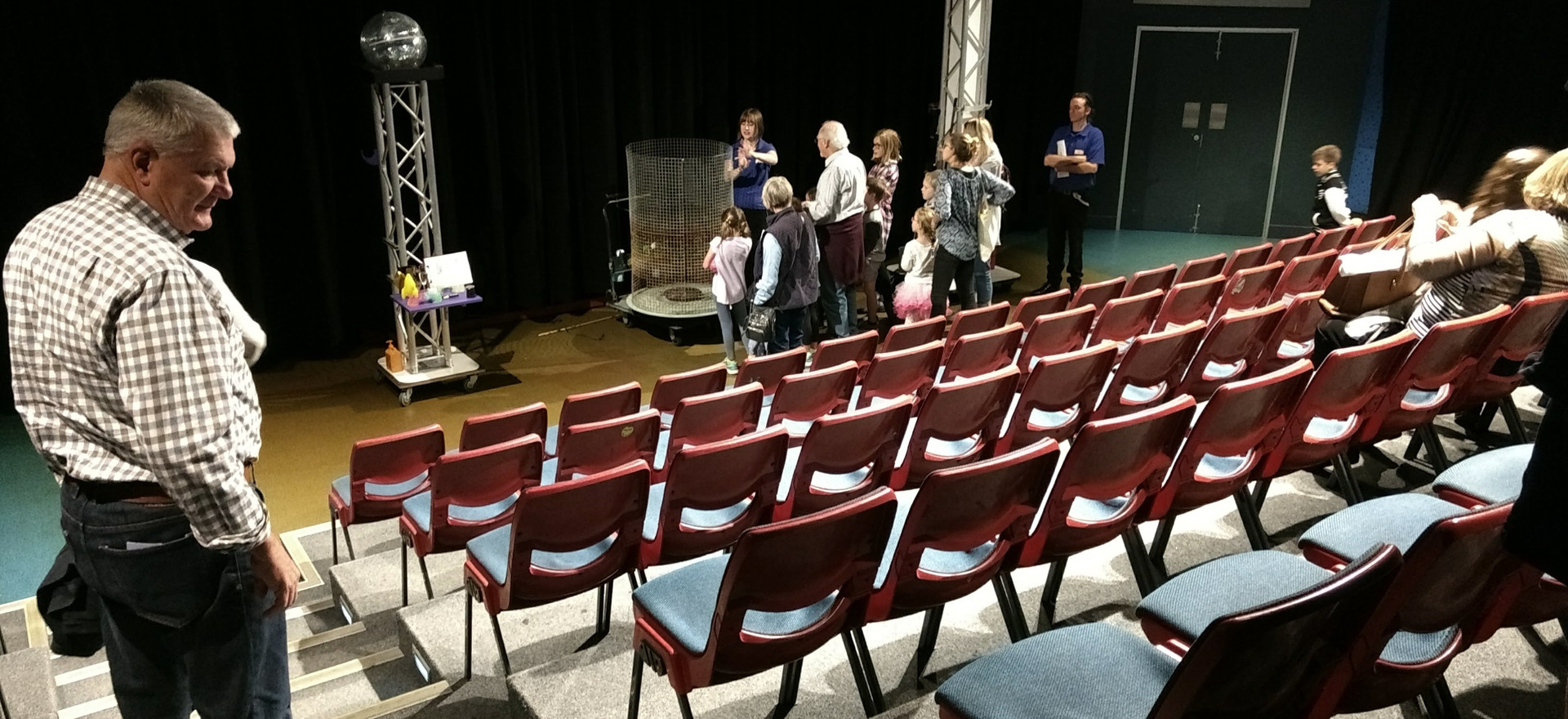 Checking out the Science Theatre for Launch.jpg
