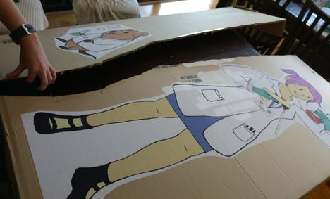 My Mad Scientist Mummy - Dr Mummy and Seto -cardboard stands prep.jpg