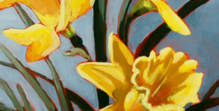 Three Yellow Daffodils - Sold
