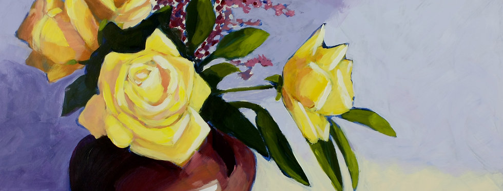 Five Yellow Roses