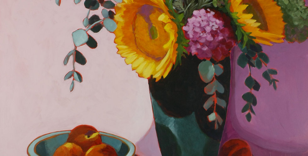 Sunflowers and Peaches - Sold