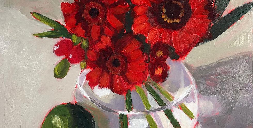 Red Gerbera Daisy Bouquet