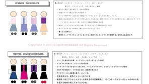 パーソナルカラー4シーズンの代表イメージ