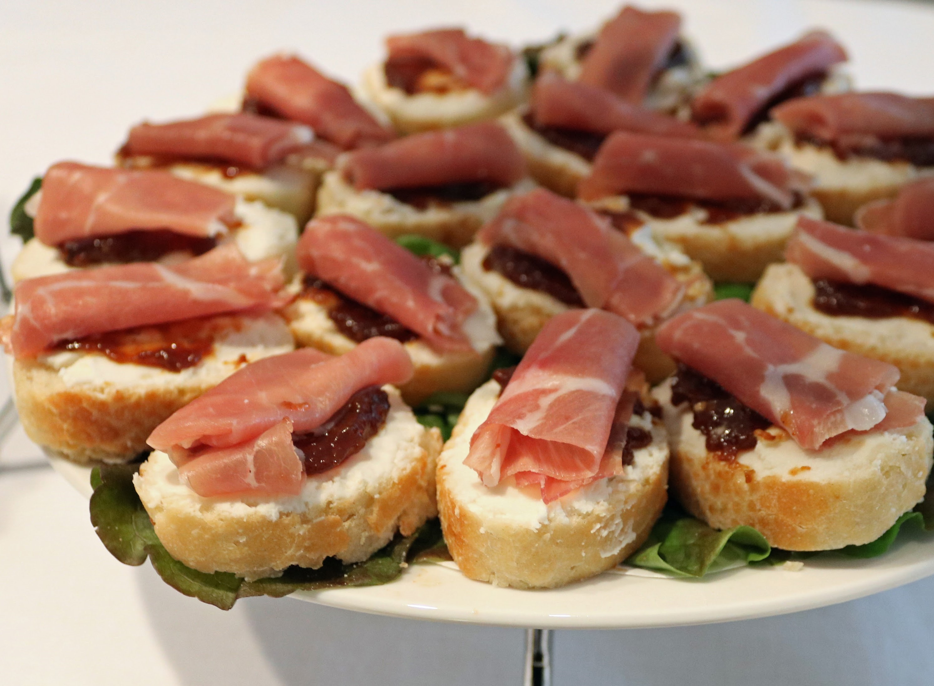 proscuitto on baguette