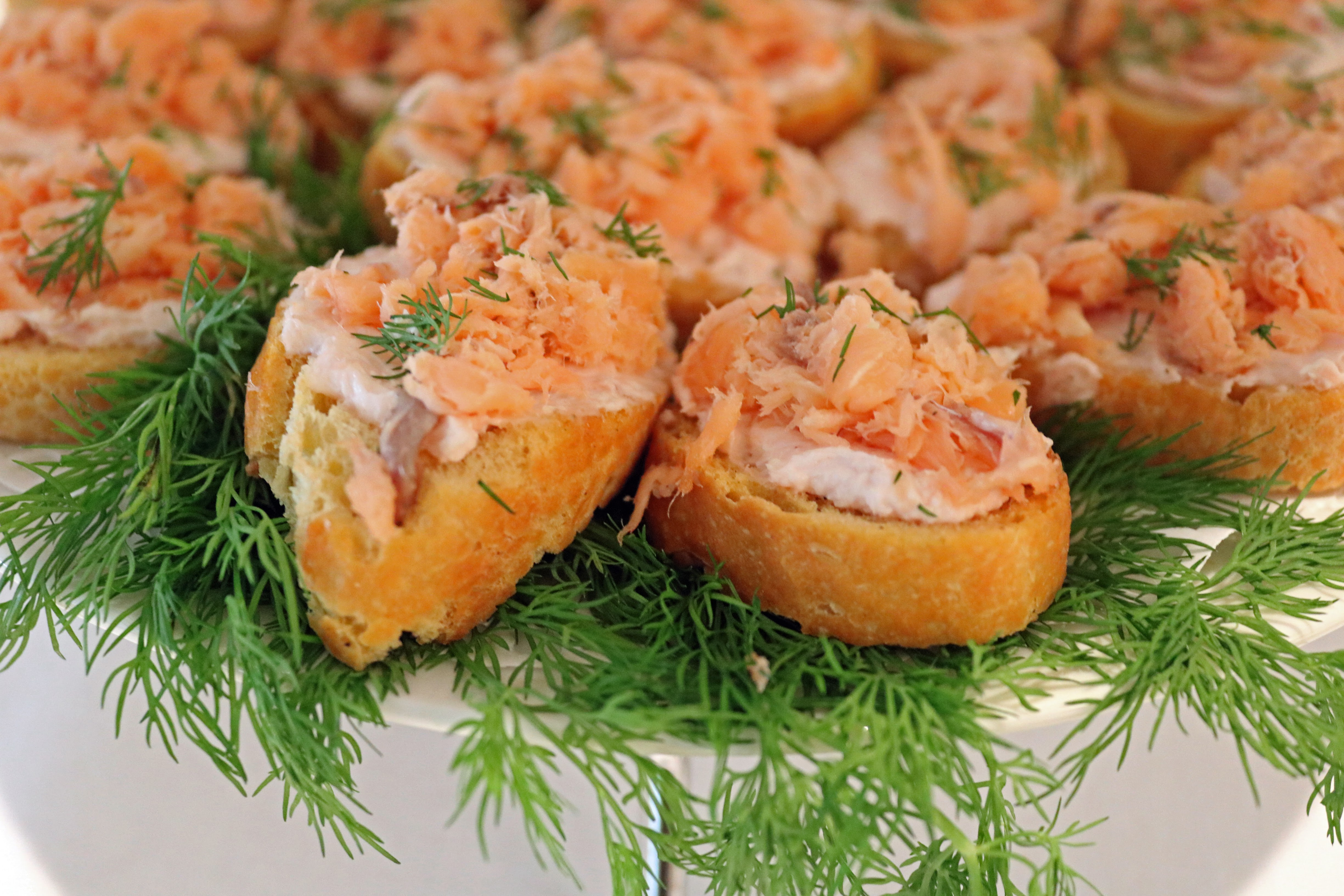 smoked salmon on crostini