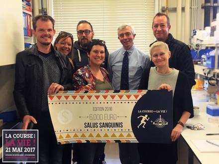 Chèque Salus Sanguinis 2016