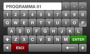 software Tesmit tastiera alfanumerica per inserimento dati