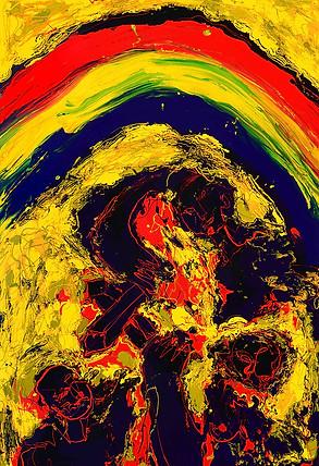 Drifting happiness enamel paint on canva