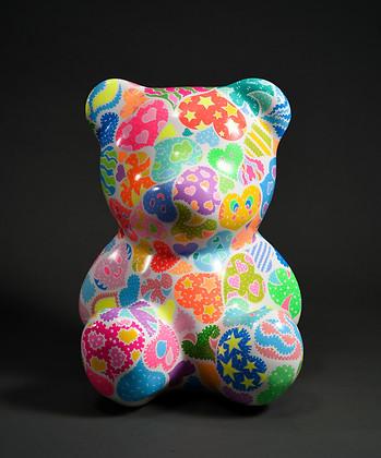 11. Lucky bear, 62x50x50cm, Acrylic on p