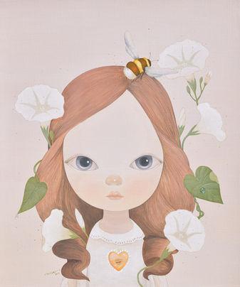 Bumblebee and morning glory