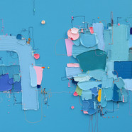 The Memory of the Unconscious 402, 73x73 cm, Mixed media on Canvas, 2020.jpg