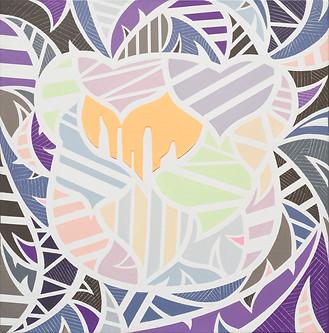 colorpool, 22x22cm , Acrylic on canvas,