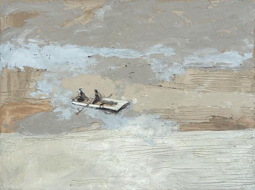 Leszek Skurski - Fishing - 60x80 cm - Mi