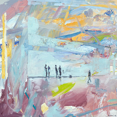 Leszek Skurski - Waiting - 80x80 cm - Oi
