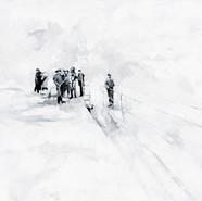 Leszek Skurski - Le Scaphandre - 100x150 cm - Acryl on Canvas - 2018