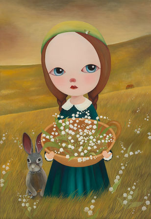 Lily of the valley and rabbit