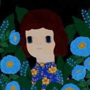 푸른꽃 소녀 45X53cm  Acrylic on Canvas 2012