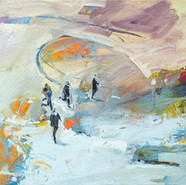 Leszek Skurski - Erzrivale - 60x100 cm - Oil on Canvas - 2018