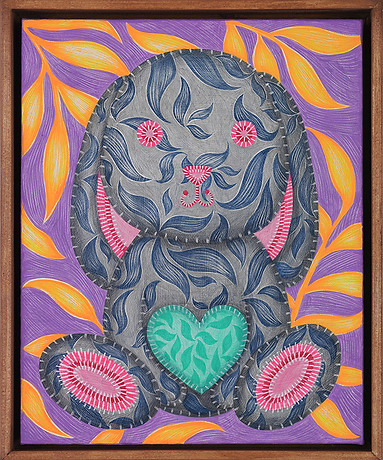 17. LOVE(나무액자)27.2x22cm, oil on canvas,