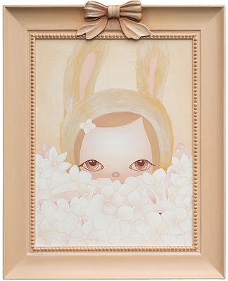 Rabbit in hydrangea